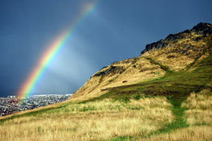 Rainbow Over Edinburgh